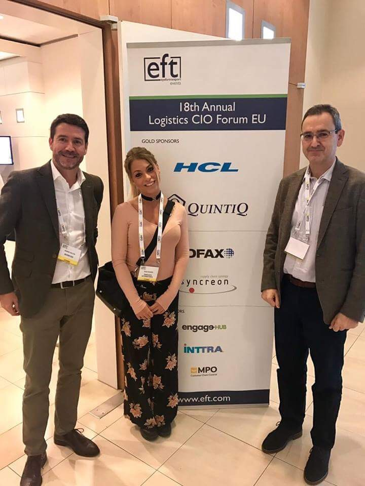 Ramon Gallen and Antoni Contijoch, Marmedsa Noatum Maritme (one of many Zinnovate customers at the event) with Julia Dunder, Zinnovate.