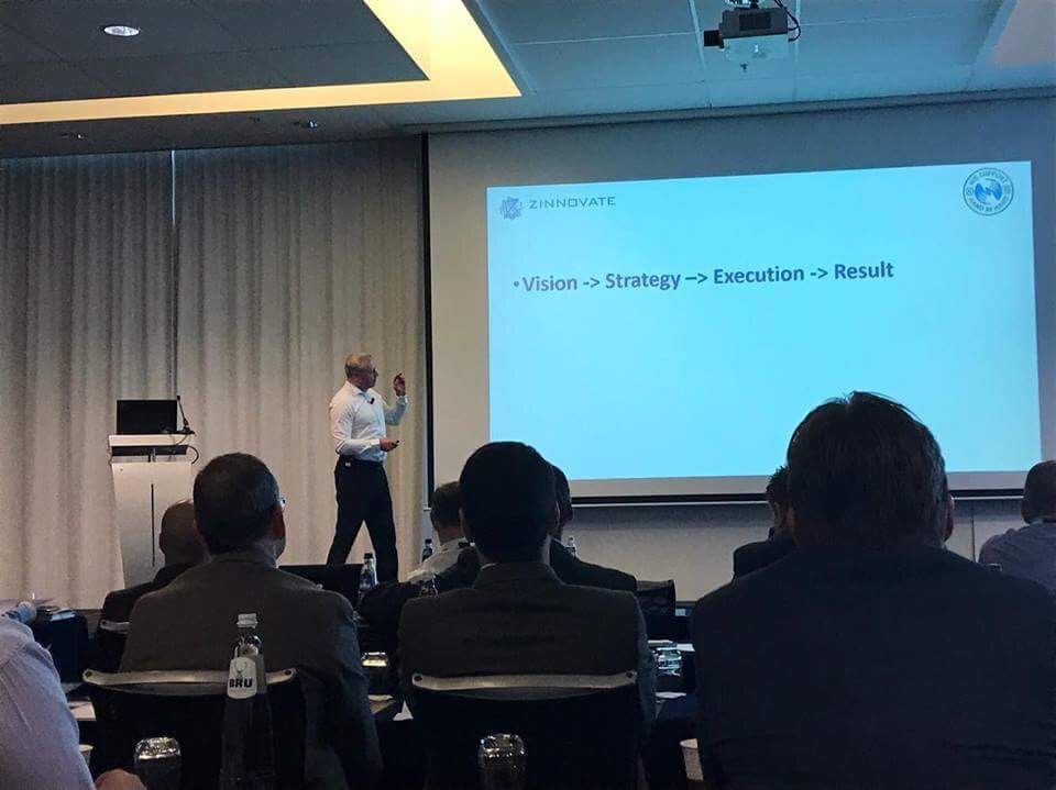 Håkan Nilsson opening the second day of the summit by stressing the importance of Execution